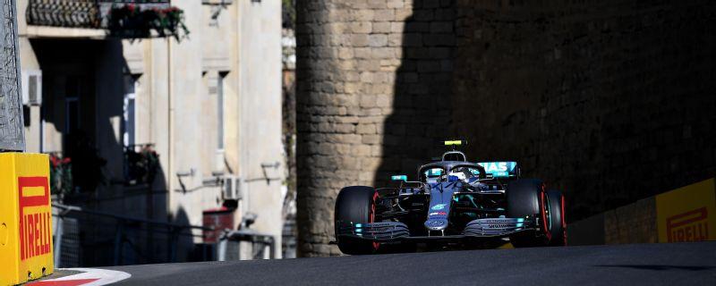 Valtteri Bottas won the Azerbaijan Grand Prix as Mercedes took its fourth one-two victory of the season.