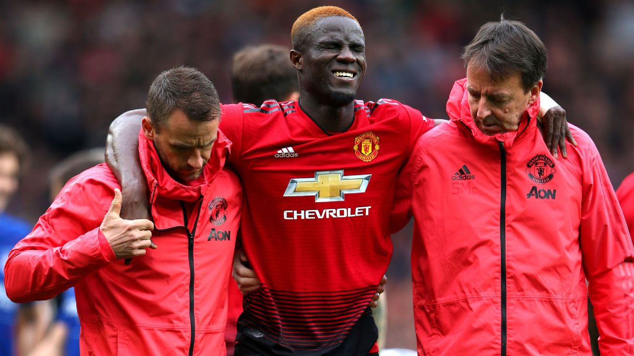 Ivory Coast defender Eric Bailly may miss the Africa Cup of Nations after sustaining a knee injury playing for Manchester United against Chelsea in the English Premier League on Sunday.