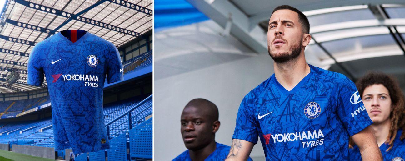 1752f5ff4 Hazard models new Chelsea kit -- will he play in it next season