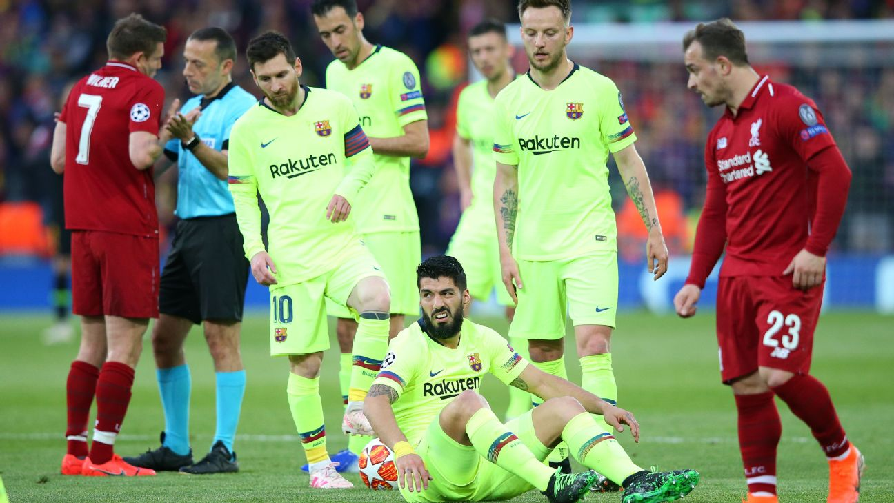 86db00529a5 Suarez  Barcelona played like  kids  against Liverpool in collapse