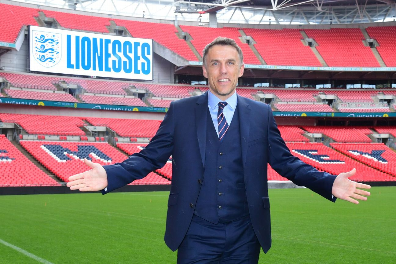 Phil Neville enlisted some famous friends to help announce England's squad for this summer's Women's World Cup.