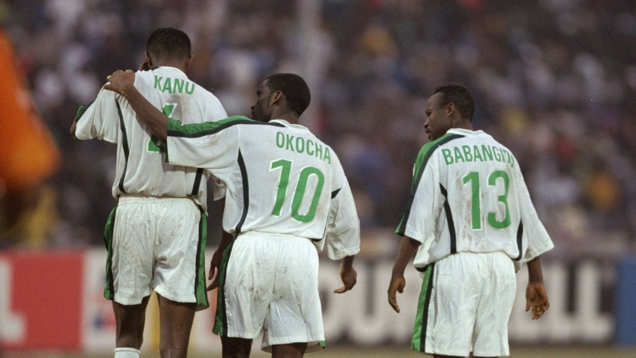 A rare photo of Nigeria's three new scouts slash mentors, this take at the 2000 Africa Cup of Nations, where Nigeria lost in the final to Cameroon.