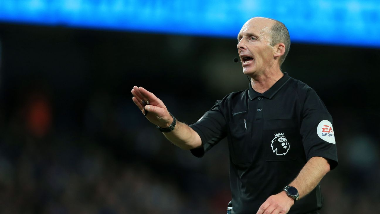 Premier League referee Mike Dean wildly celebrates Tranmere Rovers reaching Wembley 2