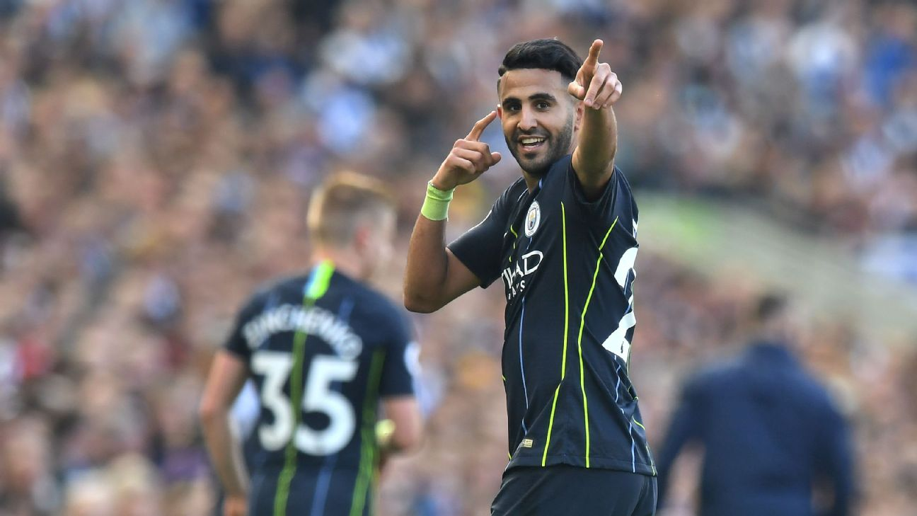 Riyad Mahrez had been peripheral at best this season, but took his chance on the final day to help City clinch the title.