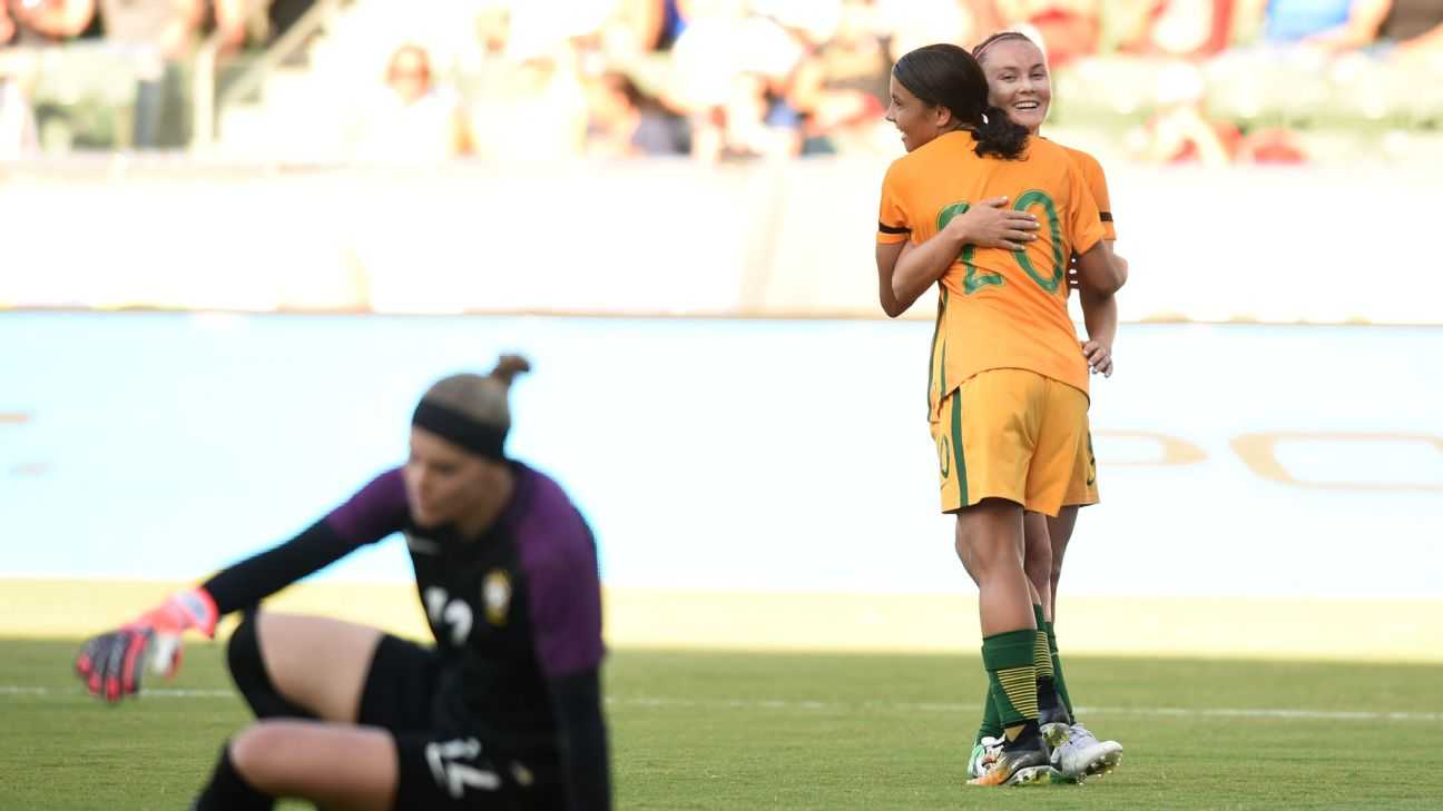 Sam Kerr and Caitlin Foord