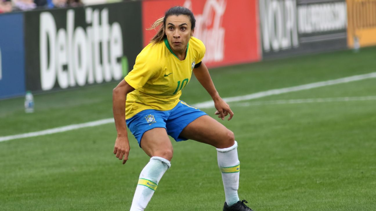 Marta has scored the most goals (15) in Women's World Cup history and is a six-time player of the year.