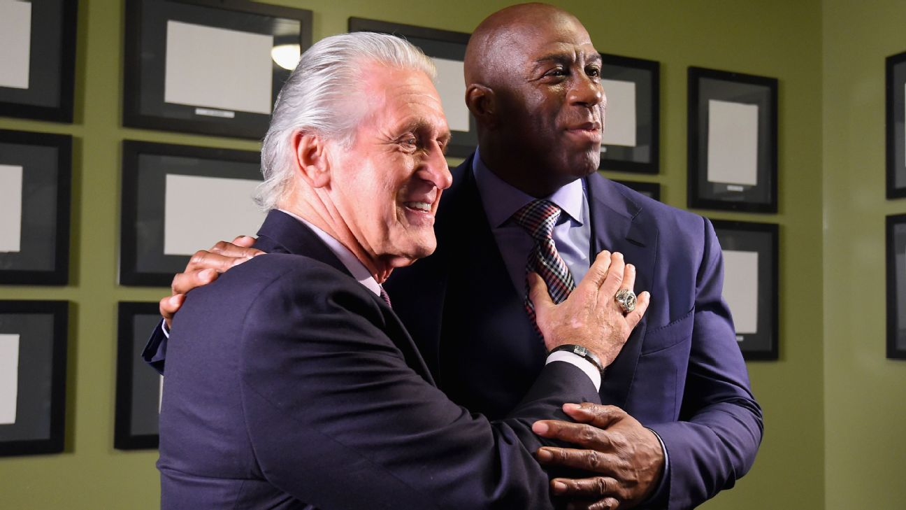2a7389dcbb9 Pat Riley on Magic Johnson   He s going to speak his mind