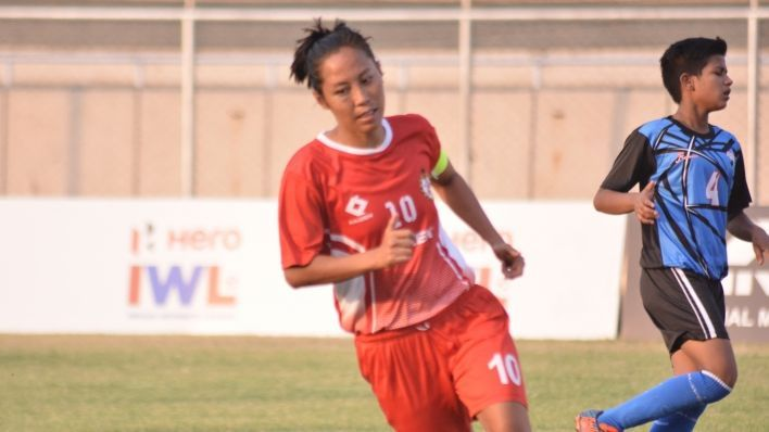 Manipur Police's captain Bala Devi in action.