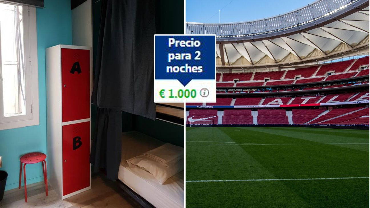 €500 bunk bed for Champions League final