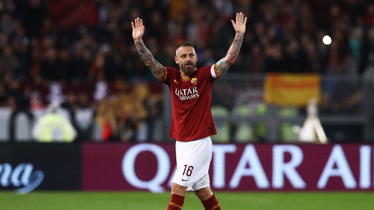 Daniele De Rossi played 18 seasons and 616 times for hometown club Roma and will go down as one of his beloved club's best ever.