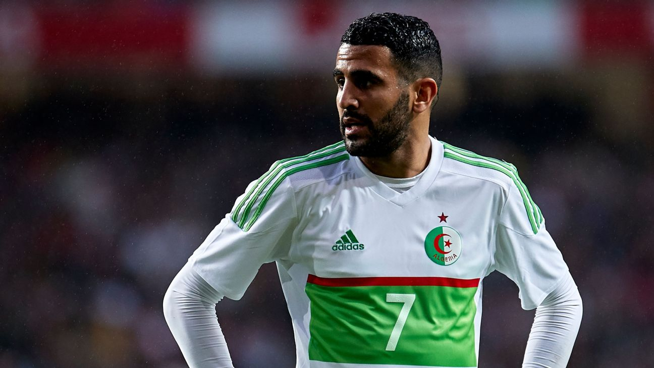 Riyad Mahrez is included in Algeria's squad after a middling season for Manchester City, though he ended on a high with a goal in their final game of the season.