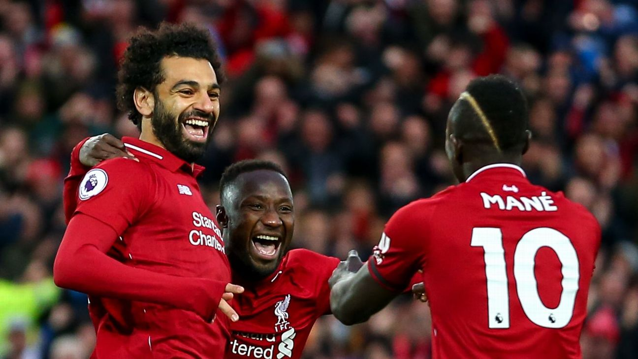 Liverpool's African trio of Salah, Keita, and Mane have been key to their European success this season.