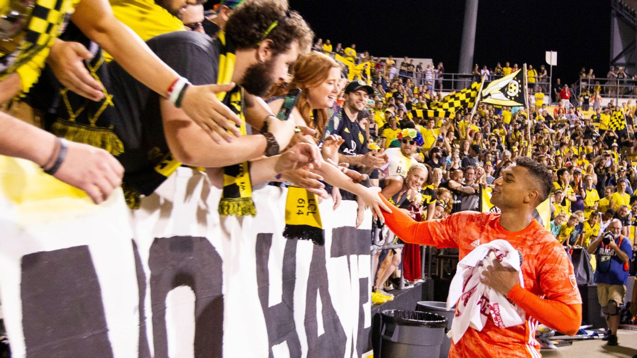 Columbus Crew SC goalkeeper Zack Steffen says farewell to fans ahead of his move to Manchester City this summer.