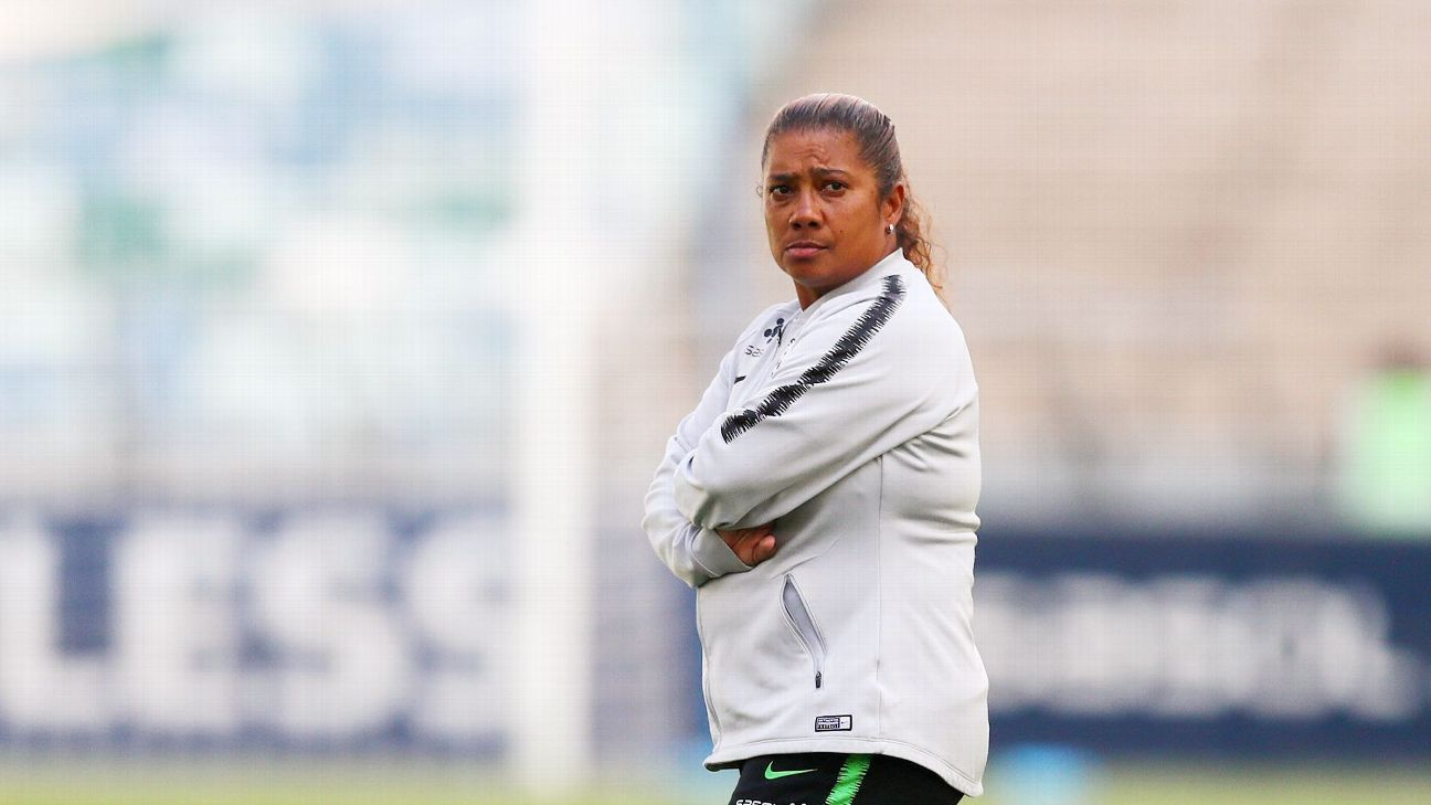 South Africa coach Desiree Ellis: Unimpressed by Banyana's slow starts.