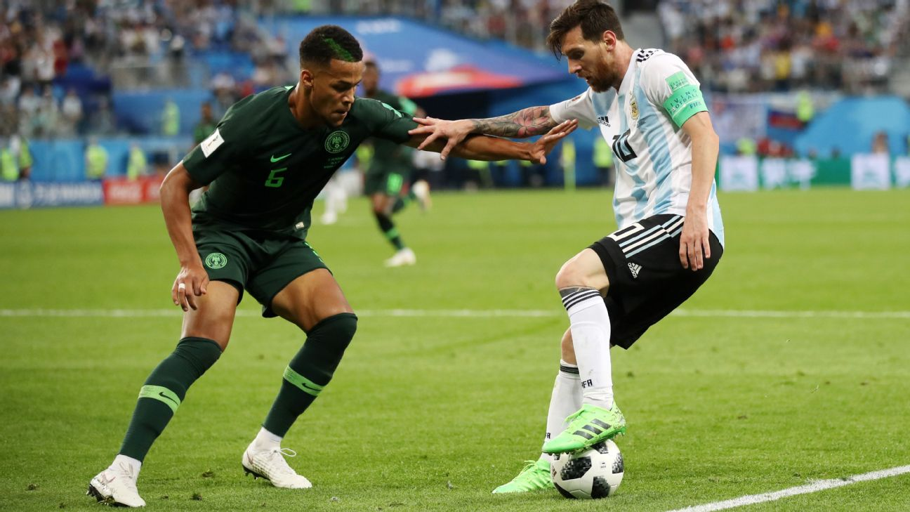 Leon Balogun played for Nigeria at the FIFA World Cup in Russia, where he marked Leo Messi in the Super Eagles' fixture against Argentina in St Petersburg.
