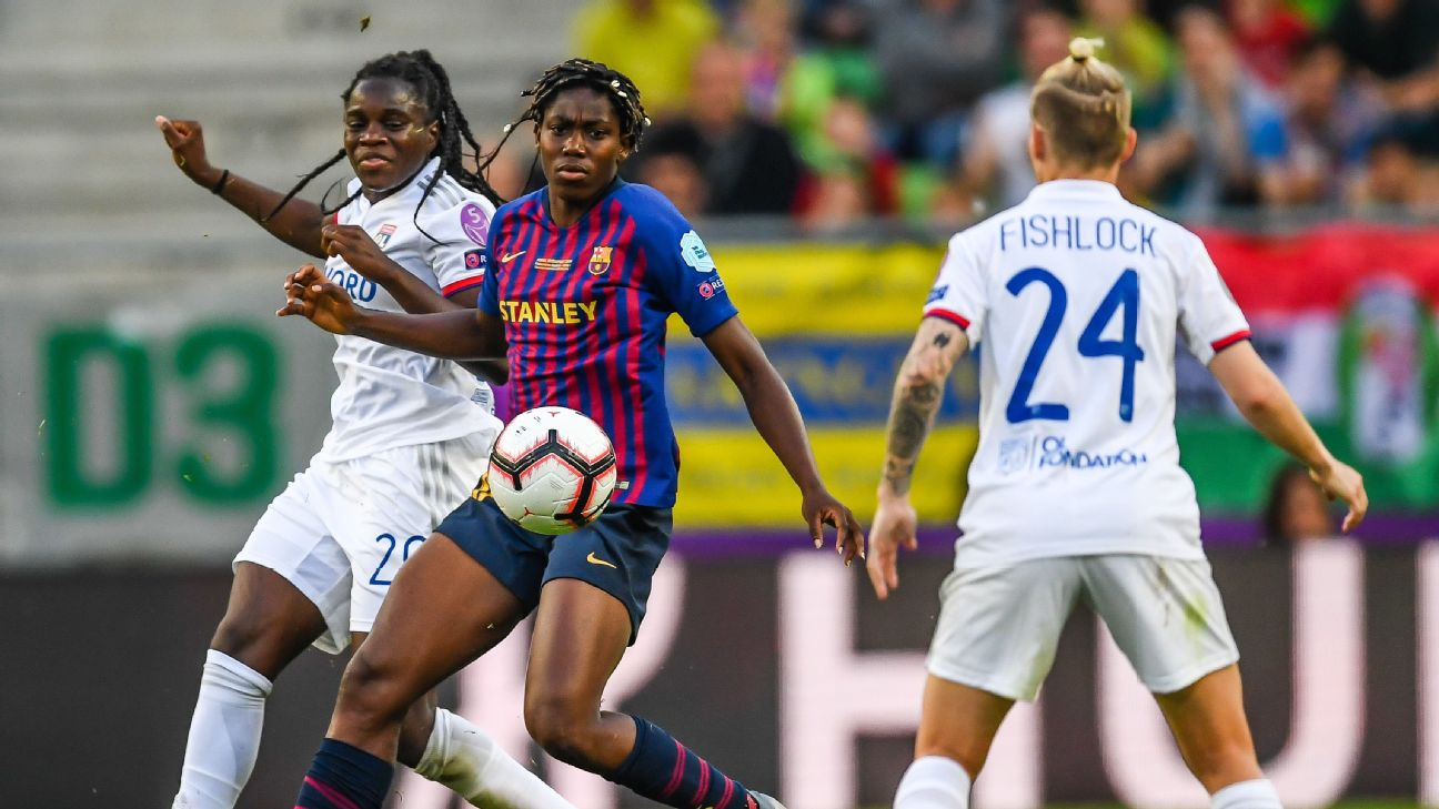 Oshoala came up against a formidable Lyon side in the UEFA Women's Champions League final in May, scoring a consolation goal for Barca in their defeat.