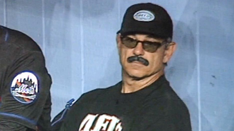 Hey, where's your mustache and glasses?' -- Bobby V on the 20th anniversary  of his dugout disguise