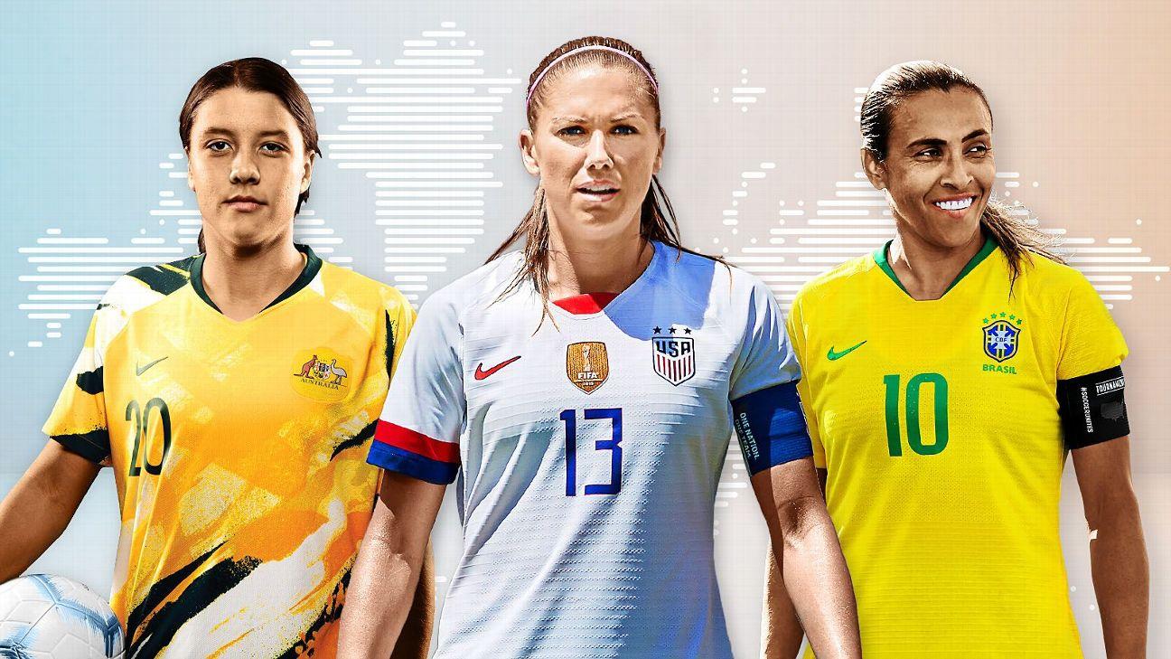 Resultado de imagem para Quem são as 25 melhores jogadoras da Copa do Mundo feminina de futebol?