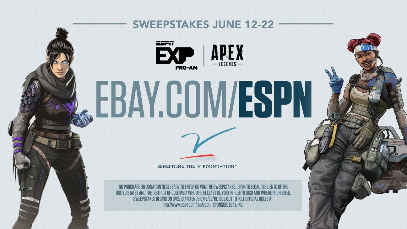 ESPYS Sweepstakes Chance to win a spot at ESPN EXP Pro-Am Apex Legends