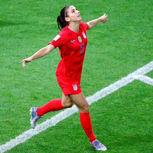 Alex Morgan is playing in her third Women's World Cup for the U.S. women's national team.
