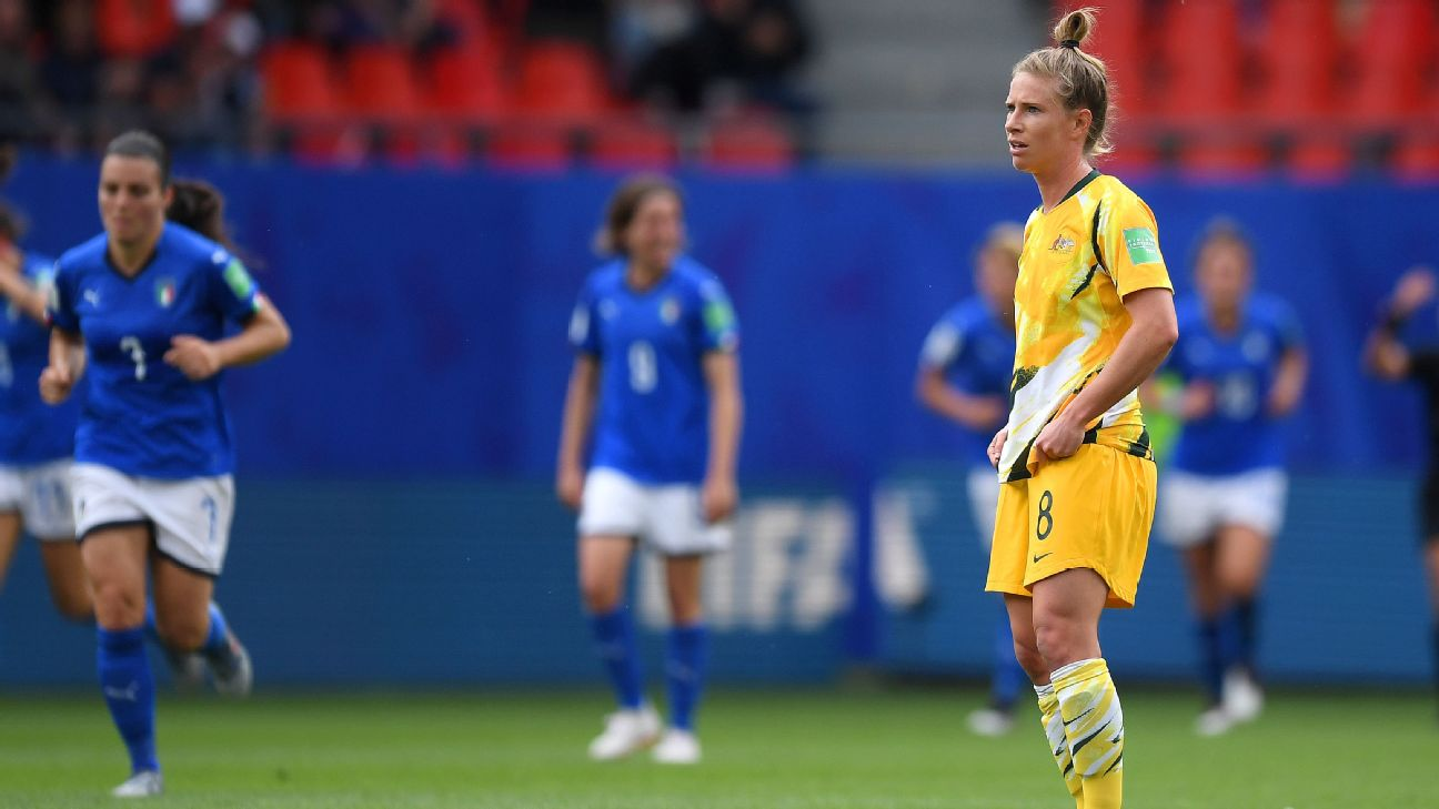 Australia's Elise Kellond-Knight wasn't happy with the loss to Italy but knows the Matildas have been here before and have bounced back.