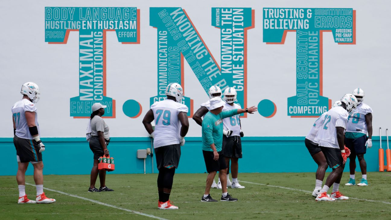 f94c537a Dolphins fire O-line coach one week into camp