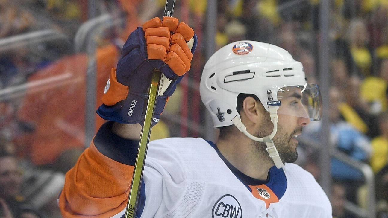 huge selection of 3b383 de1c0 Eberle re-signs with Islanders for 5 years   abc7ny.com