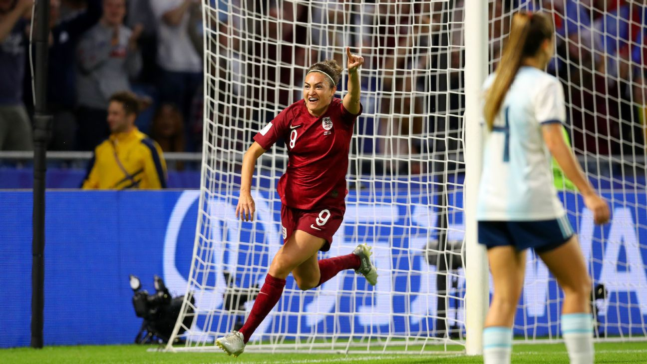 Women's World Cup 2019 - Jodie Taylor breaks scoring drought to lead England to knockout stage 2