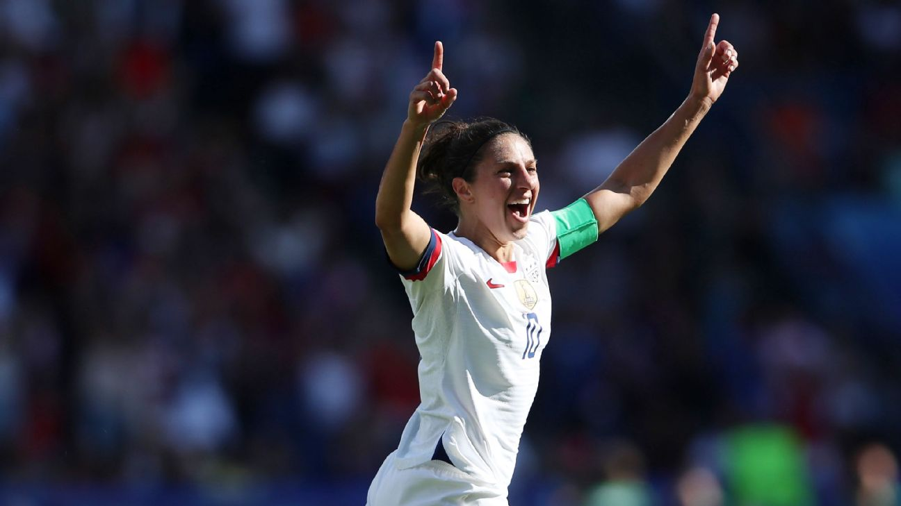 Carli Lloyd's first goal against Chile made history as she became the first player to score a goal in six straight World Cup matches.