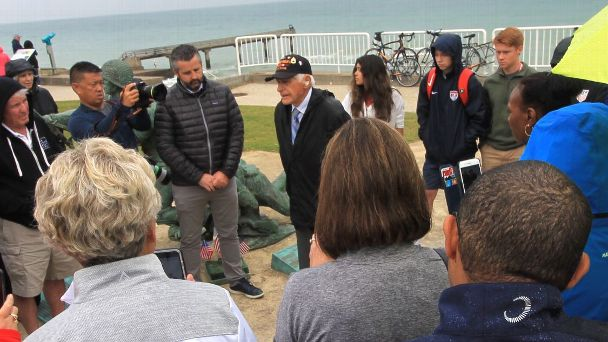 Steve Melnikoff, 99, was 24 when he came ashore with the 175th Regiment of the U.S. Army's 29th Infantry Division on June 7, 1944, a day after the D-Day invasion began.