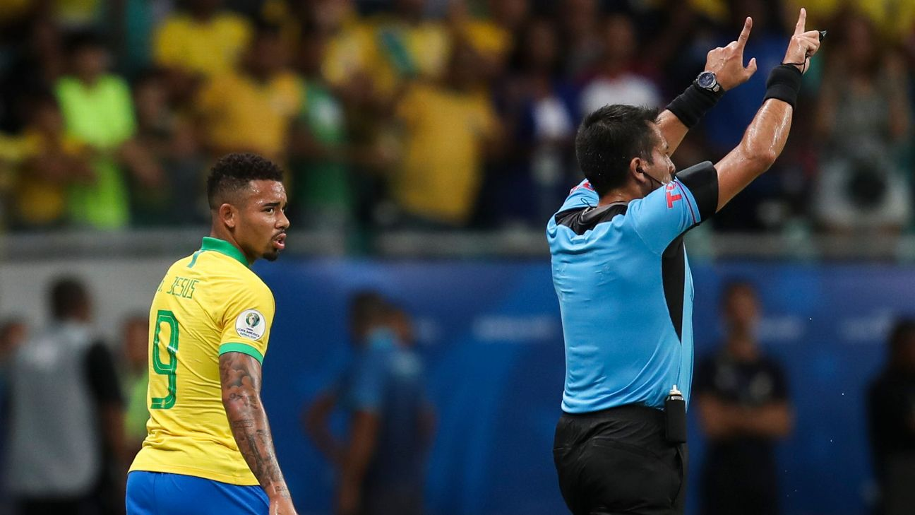 Gabriel Jesus and Brazil next face Peru on Saturday in Sao Paulo.