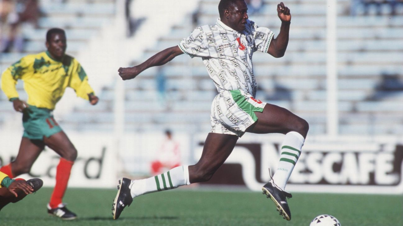 Rashidi Yekini was top goalscorer at the Africa Cup of Nations in both 1992 and 1994.