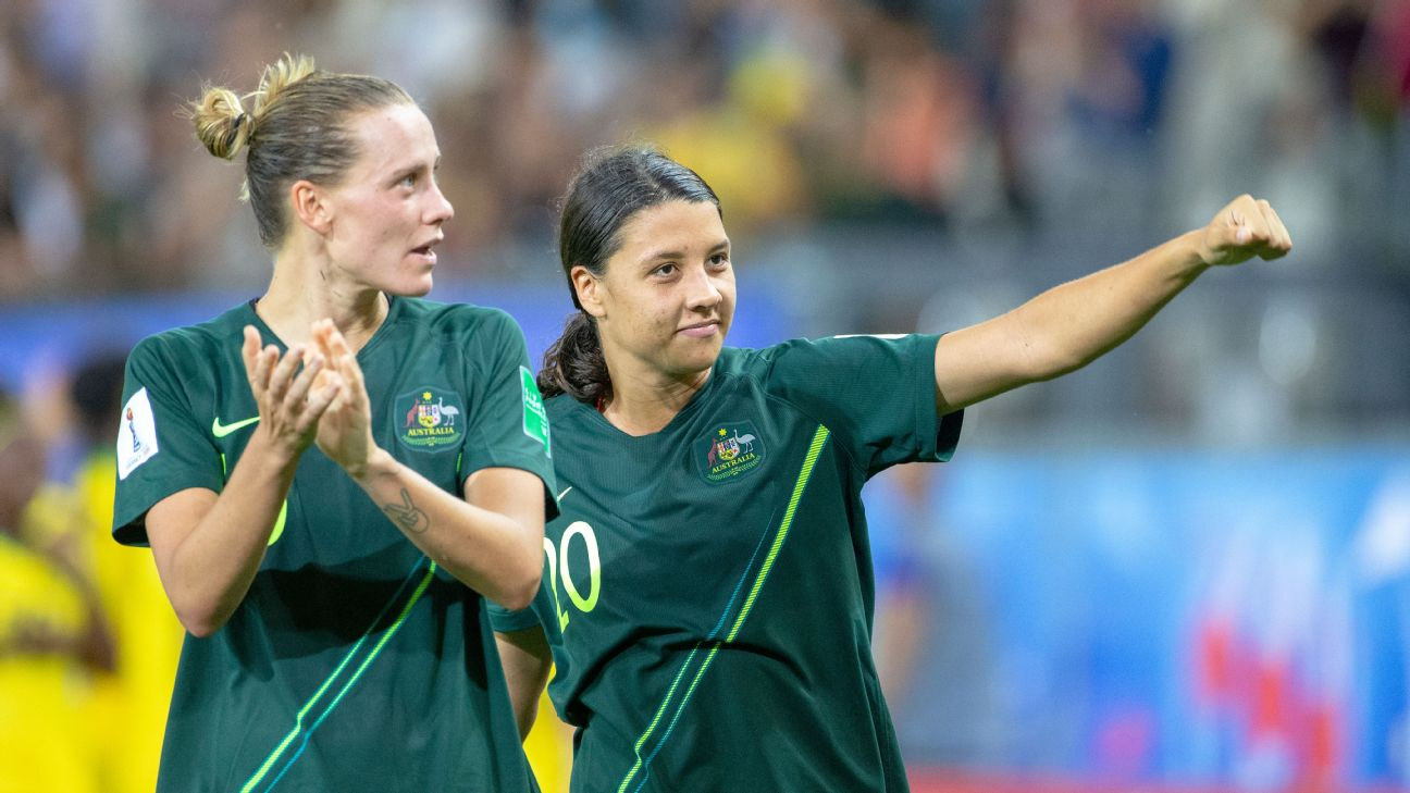 Emily van Egmond and Sam Kerr