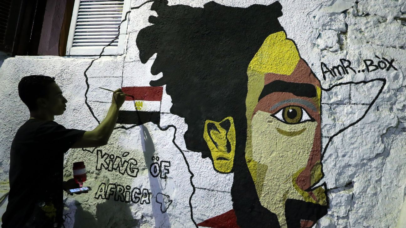 Buildings around Egypt have been adorned with the face of Liverpool's Mohamed Salah, the country's favourite footballing son and great hope for the title.