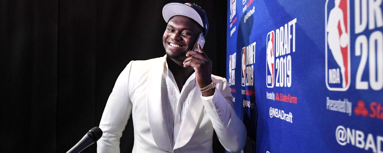 Zion Williamson at 2019 NBA draft