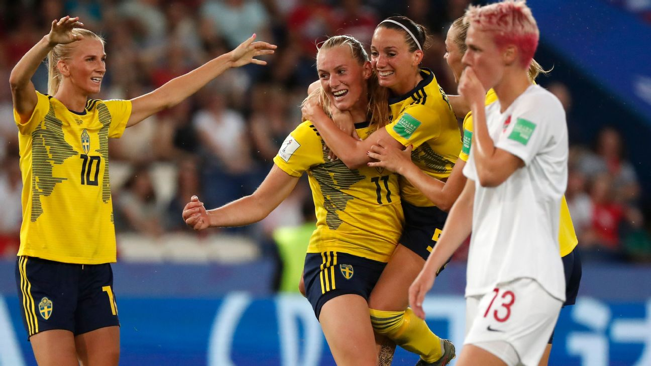 Stina Blackstenius, who scored the game's lone goal in the 55th minute, and Sweden advance to play Germany on Saturday in the quarter finals.