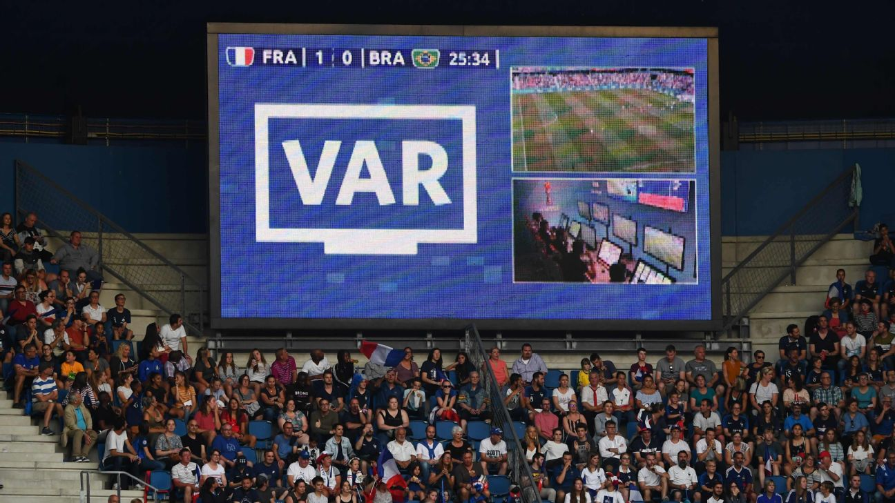 Fans are notified when a VAR review is in progress, but fans often don't see the infraction in question -- something Premier League fans will see this upcoming season.