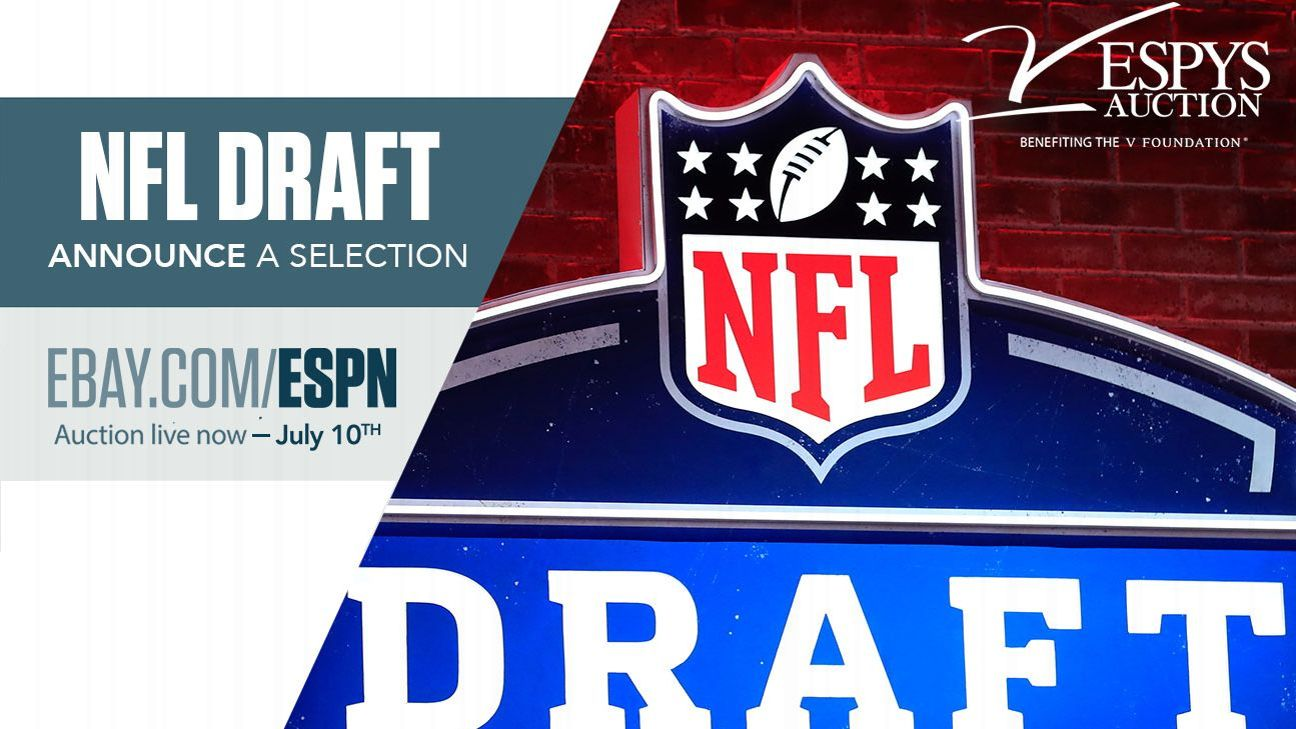 Nfl Draft 2020 >> Espys Auction Announce A Pick At 2020 Nfl Draft In Las