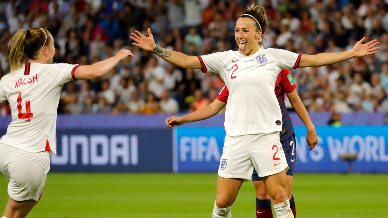 Lucy Bronze scored one of England's three goals as the Lionesses advanced to the semifinals of the Women's World Cup, where they will take on either the U.S. or France.