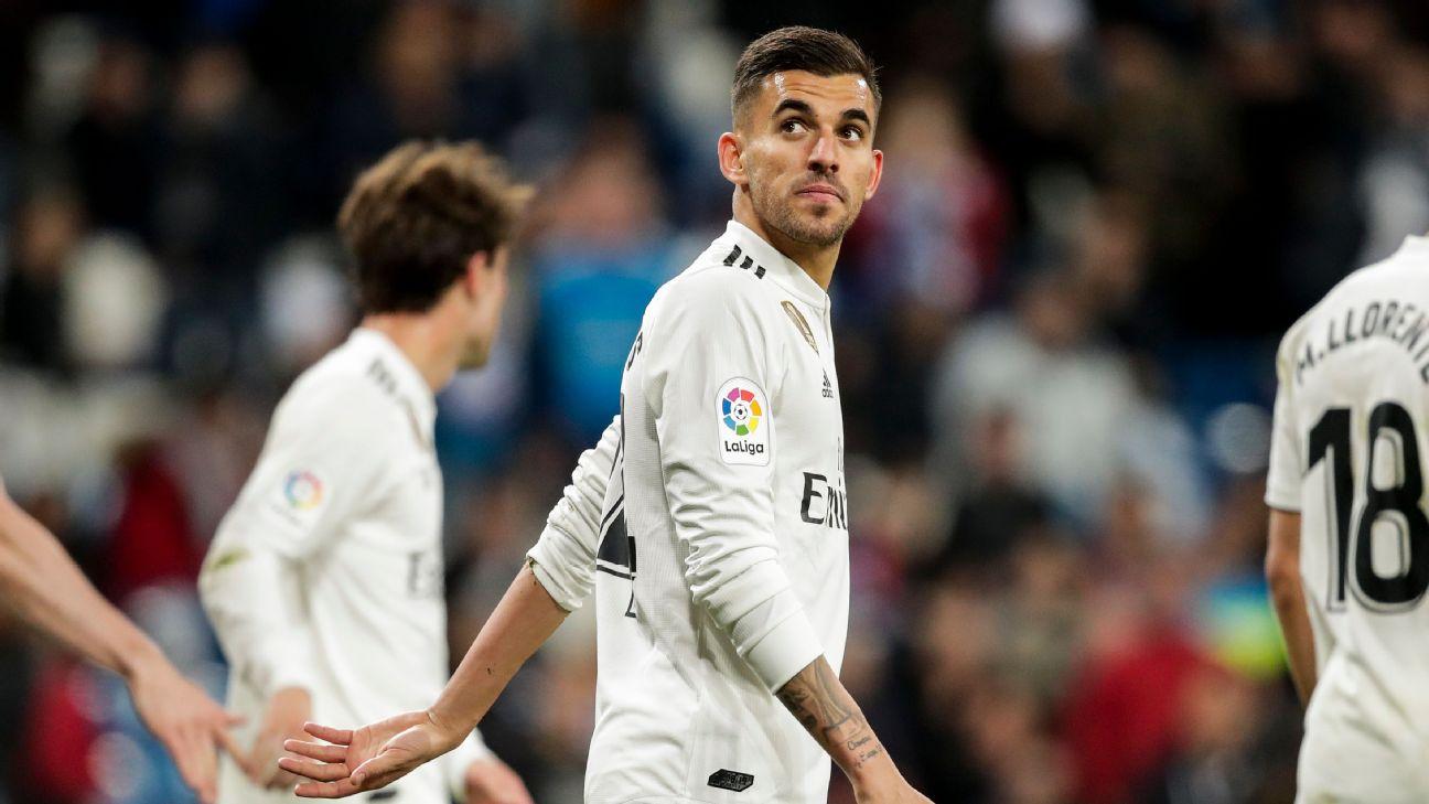 Dani Ceballos looks on during Real Madrid's La Liga match against Huesca.