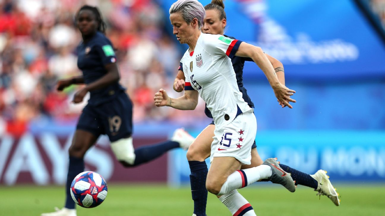 Megan Rapinoe, who scored both USWNT goals in its 2-1 win against France, was called out on social media by President Donald Trump after video surfaced of her saying she wouldn't visit the White House if the United States won the World Cup.