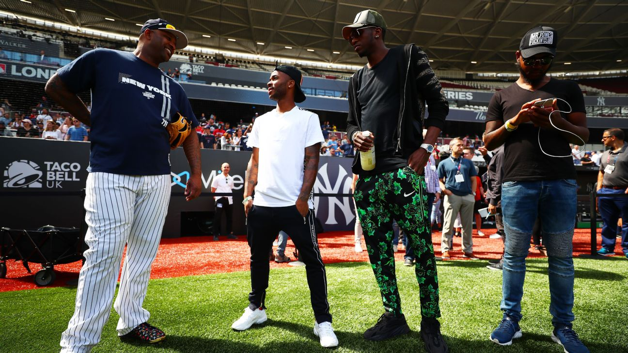Sterling meets MLB stars