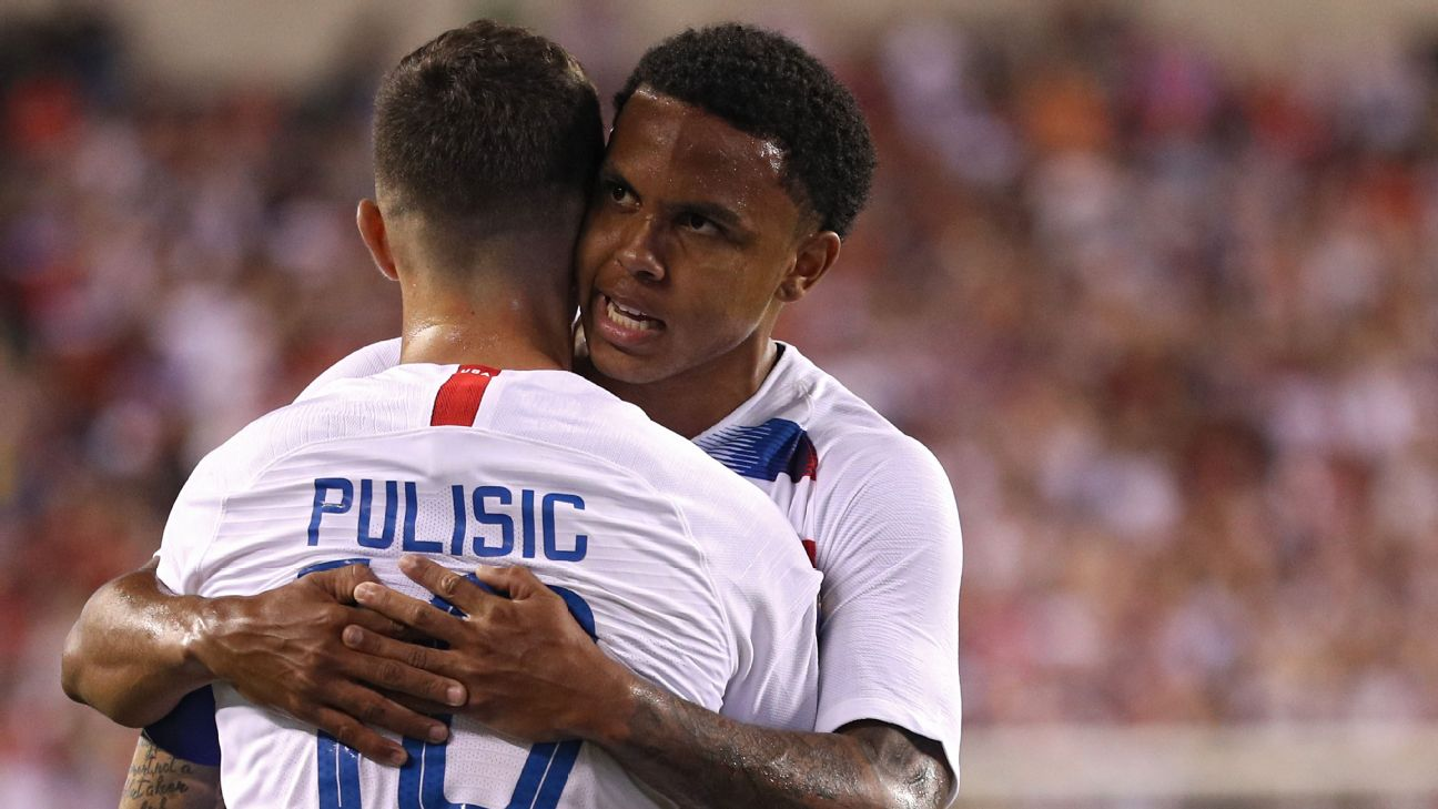 Weston McKennie and Christian Pulisic