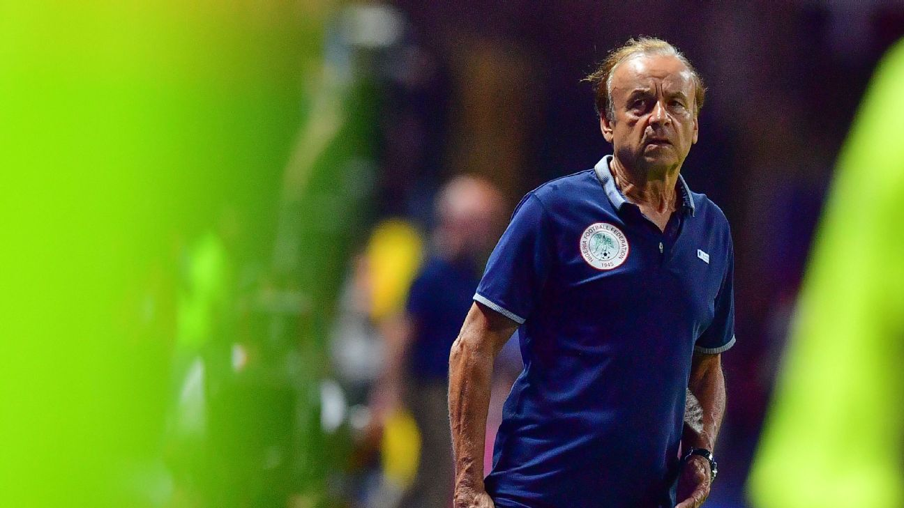 Nigeria coach Gernot Rohr looks worried, and if sources are to believed, he should be.