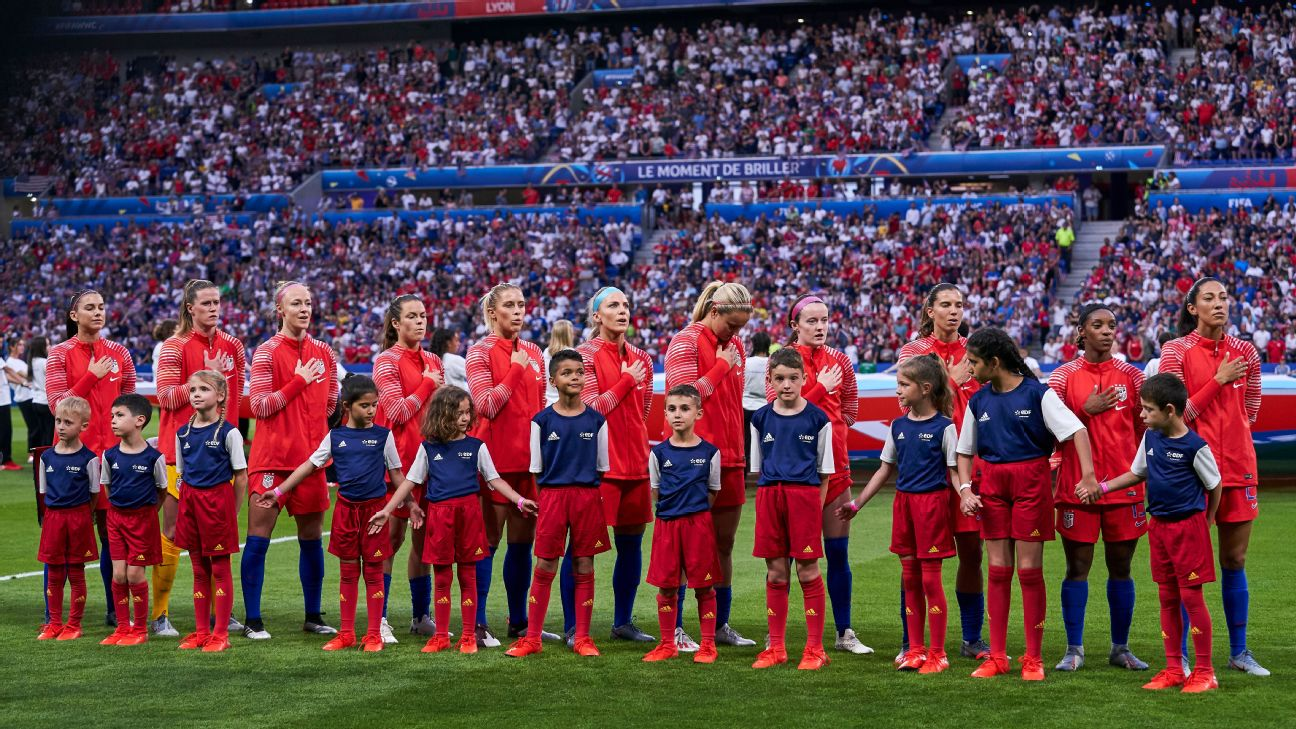 On Sunday, the USWNT will be going for their second straight and fourth overall Women's World Cup title.