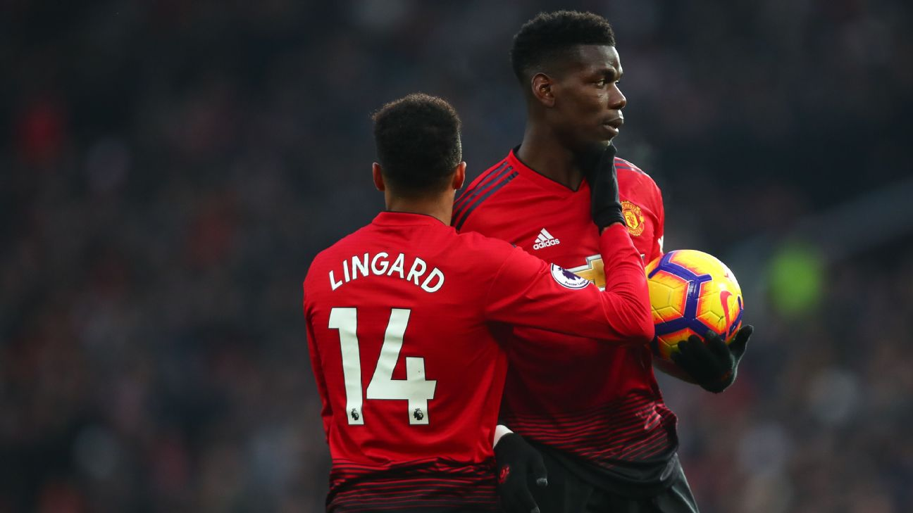 Paul Pogba and Jesse Lingard, Manchester United