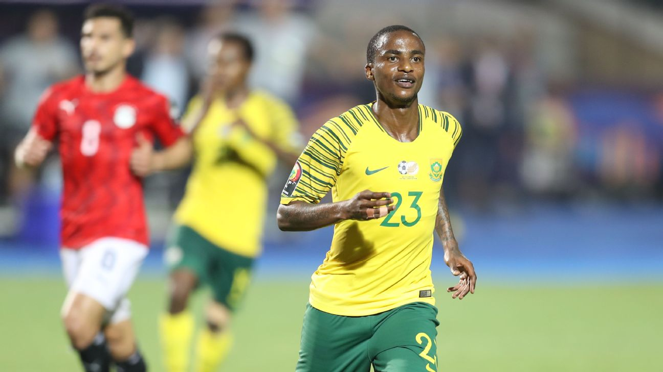 Thembinkosi Lorch took his first Afcon chance with both hands, scoring the match winner against hosts Egypt.