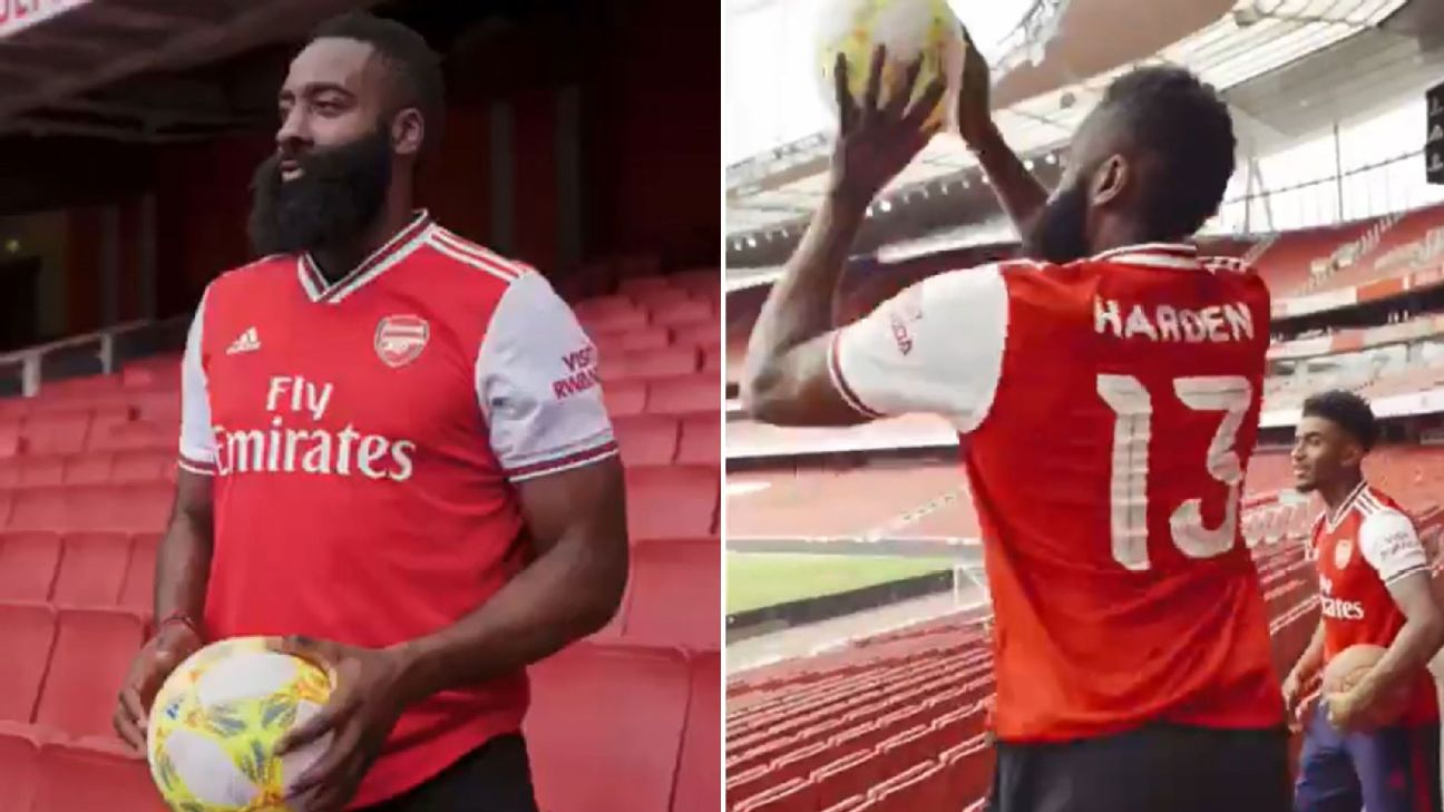 Toe Poke Daily: James Harden visits Arsenal, tries crossbar challenge with a difference 1