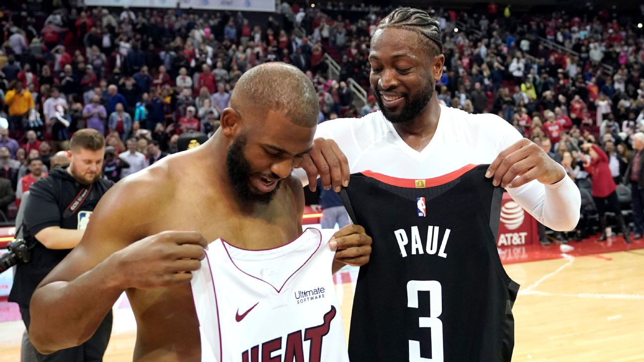 new arrival 17a0f 74daa Dwyane Wade's jersey swap collection is already hilariously ...