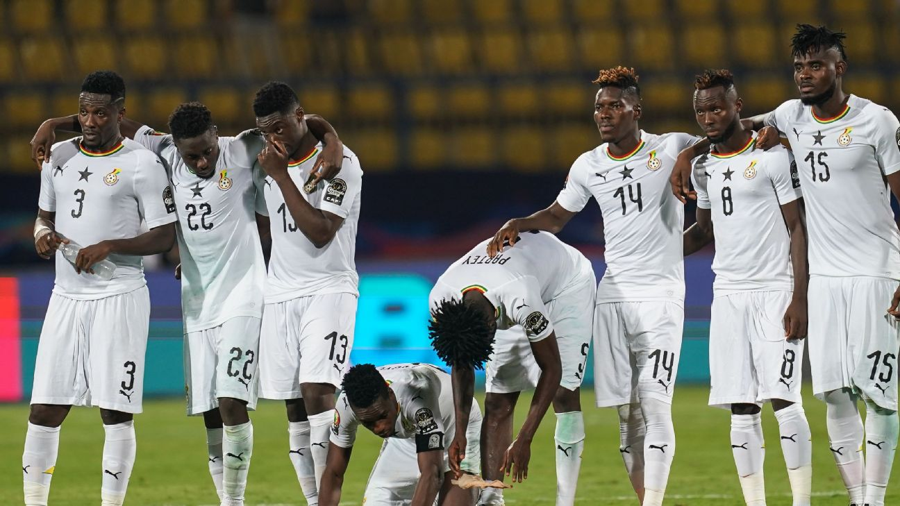 Ghana's players were devastated by their Last 16 defeat on penalties to Tunisia, knocking them out of Afcon at the earliest stage since 2008.